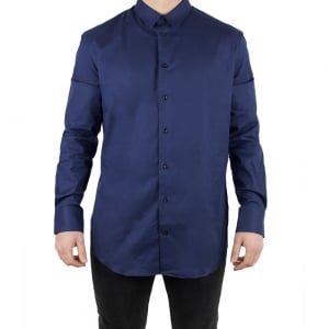 Armani Collezioni Plain Formal Shirt in Navy
