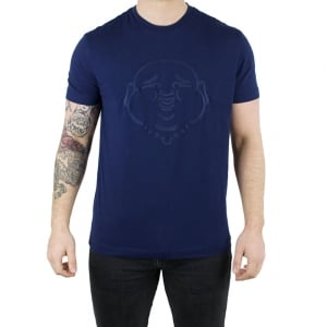 True Religion Buddha Embroidery T-Shirt in Navy