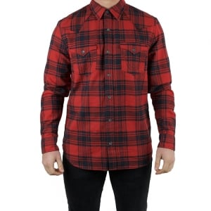 True Religion Grafitti Long Sleeved Shirt in Red