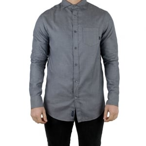 Armani Jeans Chest Pocket Shirt in Charcoal