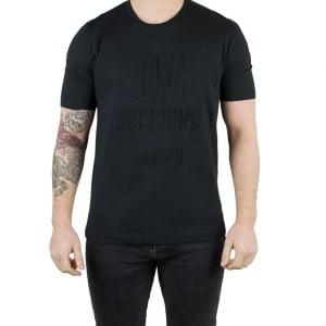 Love Moschino MMVII T-Shirt in Black