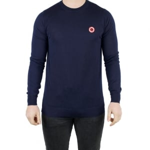 Moschino Round Peace Logo Knitwear in Navy