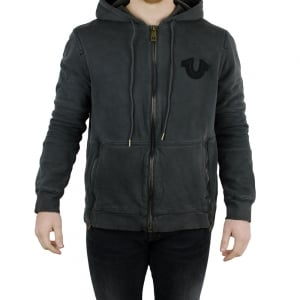True Religion Moto Hoodie in Dark Grey