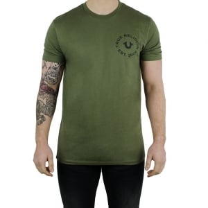True Religion UK Crafted With Pride T-Shirt in Green