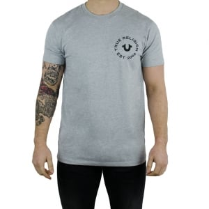 True Religion UK Crafted With Pride T-Shirt in Grey