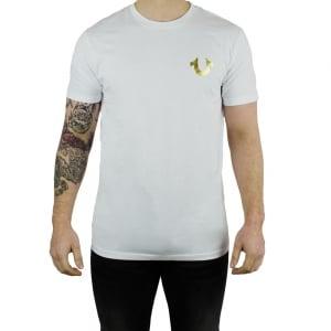 True Religion Gold Buddha T-Shirt in White
