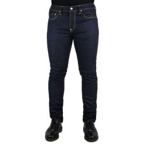 Evisu Chain Stitch Jeans in Dark Wash