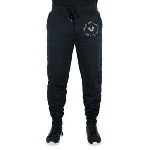True Religion Contrast Jogging Bottoms in Black