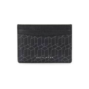 Lined Signature H_S Card Wallet in Black