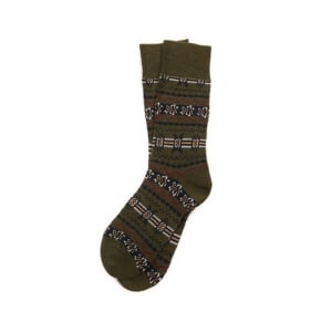 Barbour Castleside Socks in Olive