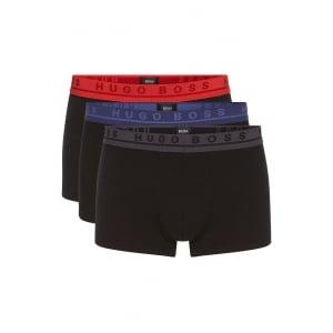 Boss Black 3-Pack Boxer Shorts in Black