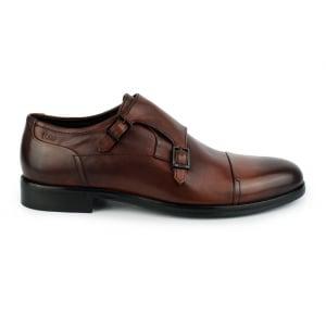 Hugo Tempt_Monk Shoe in Rust/Copper