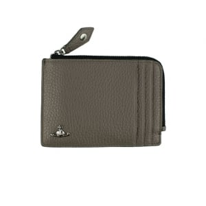 Vivienne Westwood Zip Card Holder Wallet in Grey