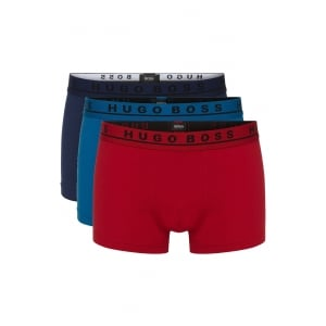 Boss Black 3 Pack Boxer Trunks in Multi Colour