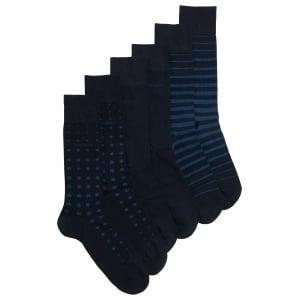 Boss Black Socks S 3P Box in Dark Blue