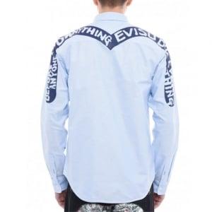 Evisu Oxford Shirt in Blue