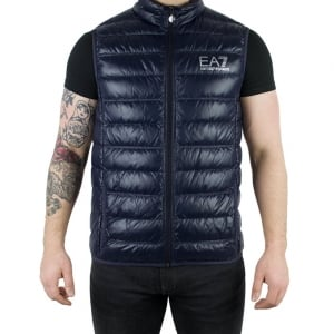 Ea7 Body Quilted Jacket in Navy