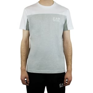 Ea7 Two Tone T-Shirt in White