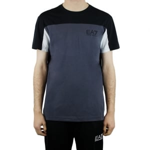 Ea7 Two Tone T-Shirt in Black
