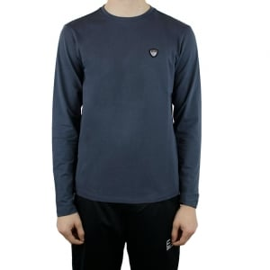 Ea7 Badge T-Shirt in Dark Grey
