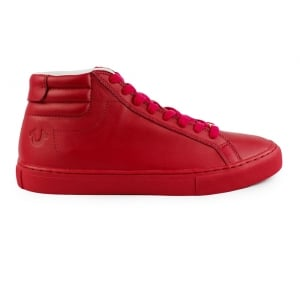 True Religion High Top Trainers in Red