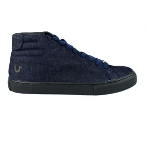 True Religion High Top Trainers in Indigo Blue