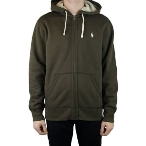 Polo Ralph Lauren Long Sleeved Hoodie in Brown