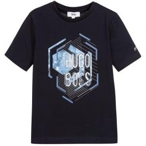 Boss Kids Tee1 Kids T-Shirt in Navy