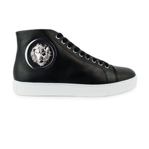 Versus Versace Round Side Trainers in Black