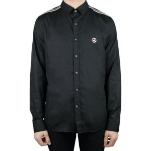 Moschino Peace Logo Shirt in Black