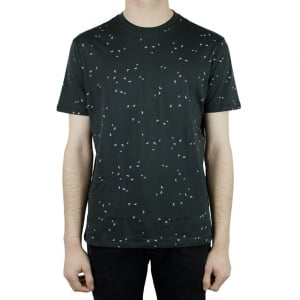 Armani Jeans All Over Logo T-Shirt in Charcoal