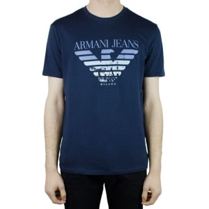 Armani Jeans Big Logo T-Shirt in Navy