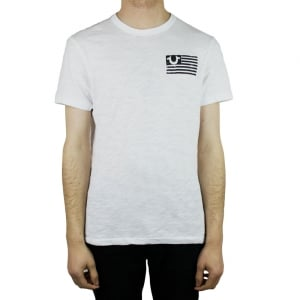 True Religion Stacked T-Shirt in White