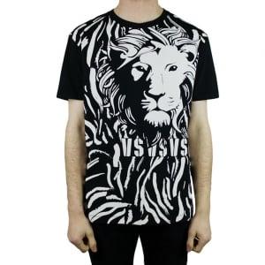 Versus Versace Big Lion T-Shirt in Black