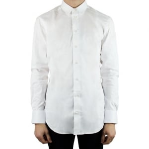 Collezioni Plain Slim Formal Shirt in White