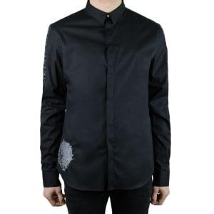 Versus Versace Detail Lion Shirt in Black