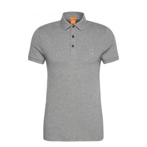 Boss Orange Pavlik Polo Shirt in Grey