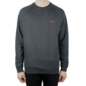 Barbour International Crew Neck Logo Sweatshirt in Charcoal
