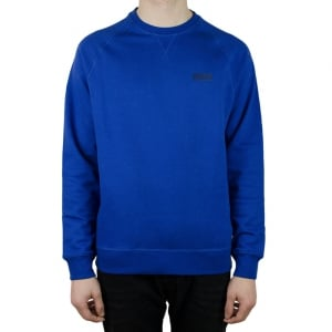 Barbour International Crew Neck Logo Sweatshirt in Blue