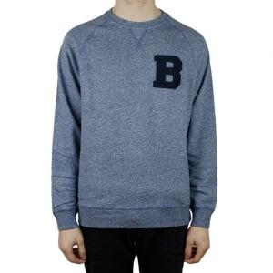 Barbour B Crew Sweatshirt in Medium Blue