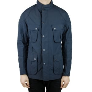 Barbour International Guard Coat in Navy