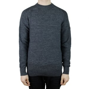 Barbour International Silverton Knitwear in Charcoal