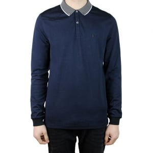 Luke Roper Long Special Bill 2 Polo Shirt in Navy