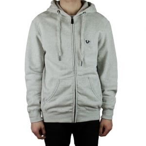 True Religion Metal Logo Hoodie in Grey