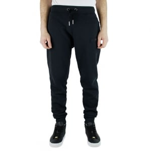True Religion Logo Jogging Bottoms in Black