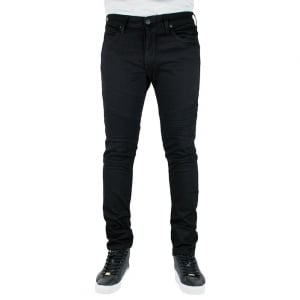 True Religion Rocco Skinny Moto Jeans in Black