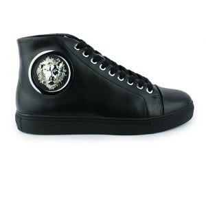 Versus Versace Round Side Logo Trainers in Black