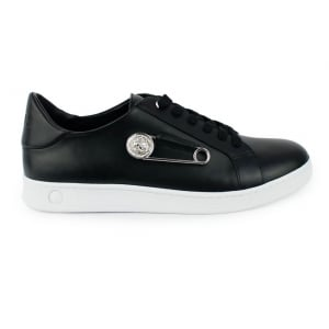 Versus Versace Pin Side Trainers in Black