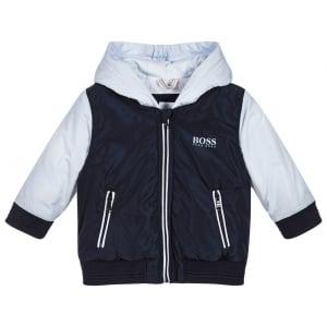 Boss Kids Newborn Jacket in Navy