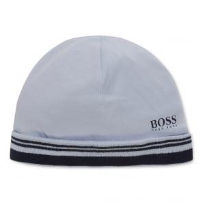 Boss Kids Newborn Hat in Baby Blue